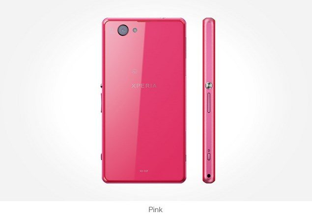Фото Sony Xperia Z1f Mini розовый