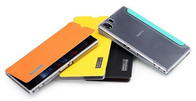 ROCK Fashion Leather Cover - кожаный чехол для Sony Xperia Z1