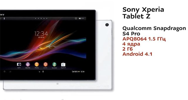 Сравнительное видео Sony Xperia Tablet Z против Apple iPad 4 и Samsung Galaxy Note 10.1