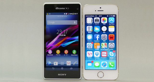 Sony Xperia Z1 f Mini стал популярнее iPhone 5S в Японии