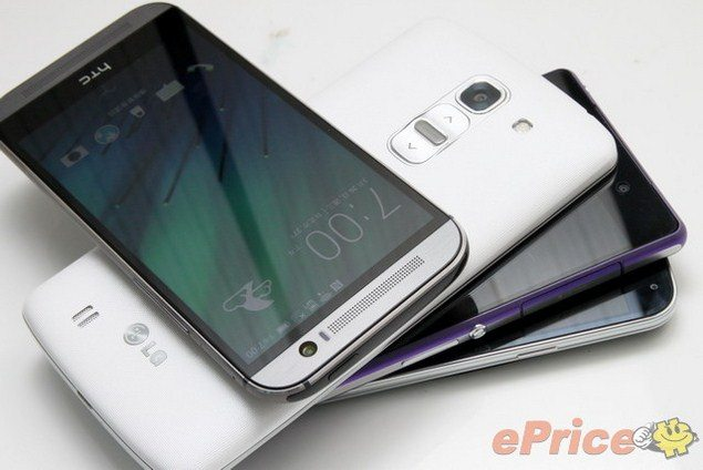 Sony Xperia Z2 vs Galaxy S5, HTC One M8, LG G Pro 2 - дизайн смартфонов