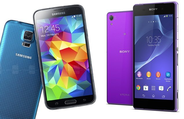 Дизайн смартфтонов Sony Xperia Z2 vs Samsung Galaxy S5