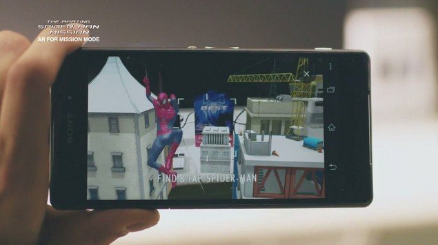 Новый AR effect Amazing Spider-Man Mission для Sony Xperia