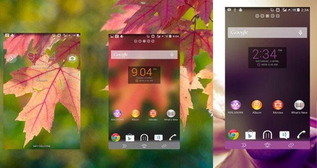 Новые темы Clean Fall Theme и Purple Flower Theme для Sony Xperia