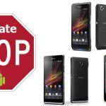 Sony Xperia SP, Xperia M и Xperia L больше не получат обновления