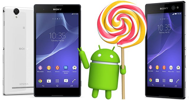 Android 5 Lollipop выйдет на Sony Xperia T2 Ultra и Xperia C3