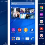 Скриншоты Xperia Home на Android 5.0 Lollipop с Xperia M4 Aqua