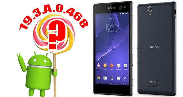 Новая прошивка 19.3.A.0.468 для Xperia C3 неужели Android Lollipop