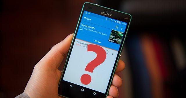 Пропали контакты телефонной книги Sony Xperia (sony xperia contacts disappeared)