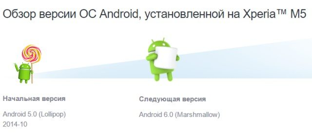 Android 6.0 Marshmallow сразу выйдет на Sony Xperia Z3+, M5, C5, C4, M4
