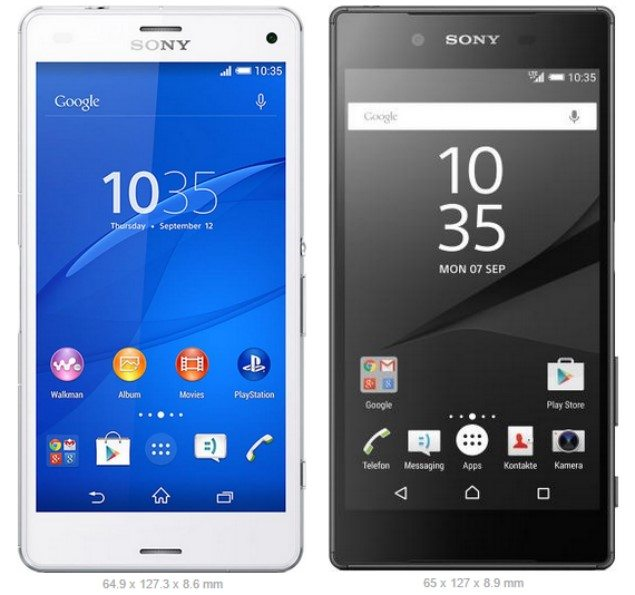 Sony Xperia Z5 Compact vs Xperia Z3 Compact сравнение