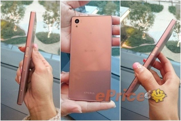 Sony Xperia Z5 Rose Quartz живые фото
