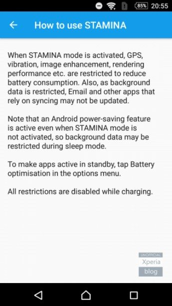 STAMINA и Ultra STAMINA в Android 6.0.1 Marshmallow