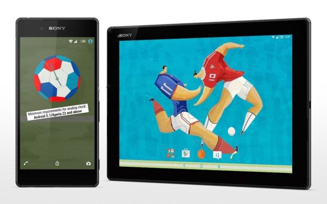 спортивные темы XPERIA Tennis, Football, Swimming для Сони Иксперия