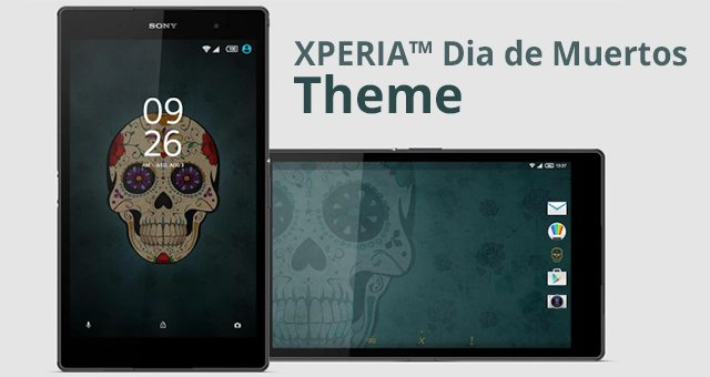 Xperia тема Dia de Muertos скачать download