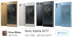 Sony Xperia 2017 рендеры