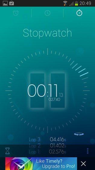 Timely Alarm Clock – будильник, таймер, секундомер для Sony Xperia