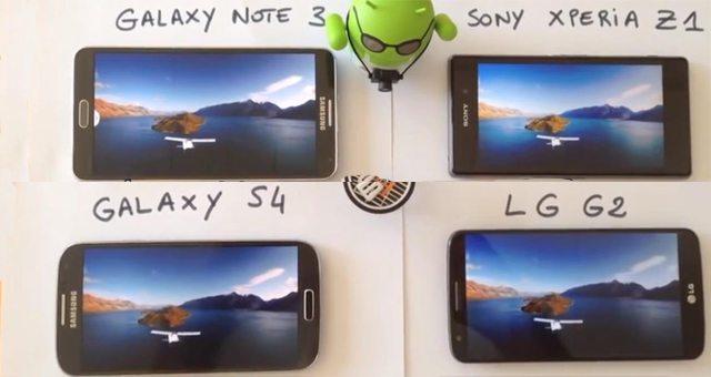 Качество экрана Sony Xperia Z1 в видео – сравнение с другими смартфонами