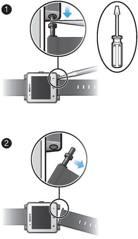 Инструкция по замене ремешка на Sony SmartWatch 2