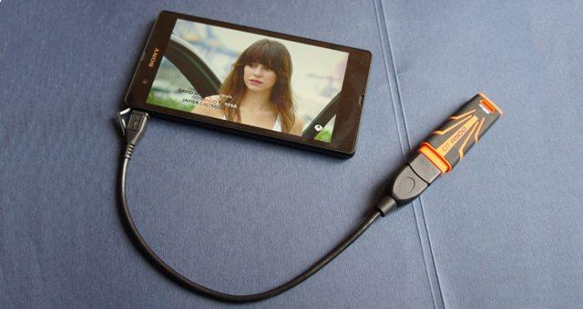 USB-OTG переходник на Sony Xperia Z и Z1