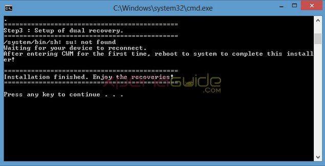 Инструкция по установке Dual Recovery CWM + TWRP на Sony Xperia Z1