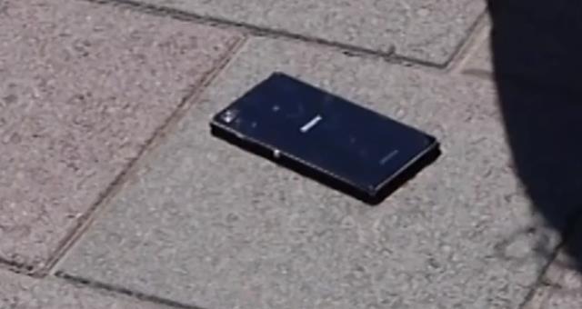 Дроп тест Sony Xperia Z1