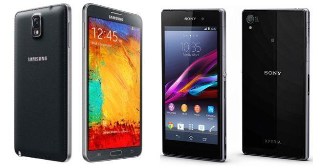 Тест сравнение Sony Xperia Z1 и Samsung Galaxy Note 3