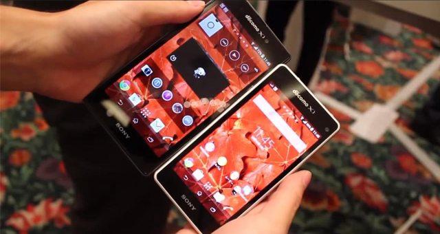 Видео обзор сравнение Sony Xperia Z1 (SO-01F) и Sony Xperia Z1 f Mini (SO-02F)