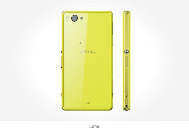 Фото Sony Xperia Z1f Mini желтый
