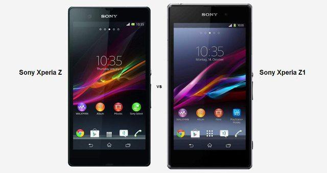 Видео со сравнением смартфонов Sony Xperia Z и Sony Xperia Z1