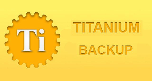 Titanium Backup для устройств Sony Xperia