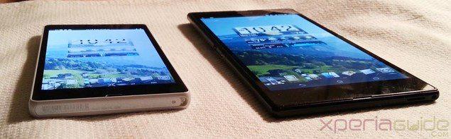 Сравнение экрана Sony Xperia Z и Sony Xperia Z Ultra Triluminos