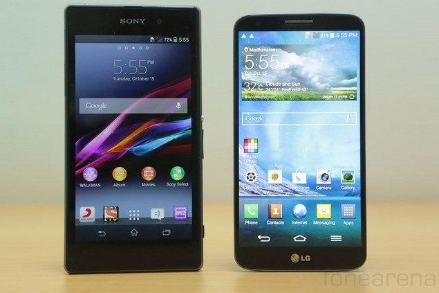 Тест-сравнение Sony Xperia Z1 и LG G2
