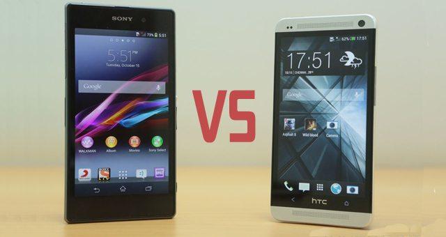 Небольшой тест-сравнение Sony Xperia Z1 и HTC One