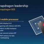 Qualcomm представили новый процессор Snapdragon 805 с видео чипом Adreno 420