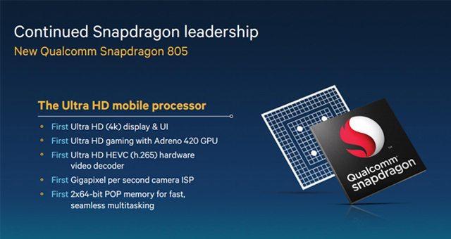 Представлен супер мощный процессор SoC Qualcomm Snapdragon 805 с видео Adreno 420