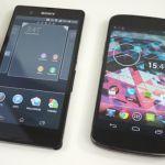 Небольшой обзор и сравнение Sony Xperia Z и Nexus 4 на видео