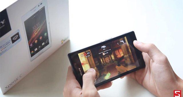 Видео с Sony Xperia C – обзор производительности и работы с приложениями