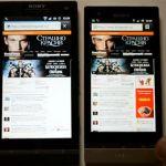 Сравнение смартфонов Sony Xperia S vs Xperia P