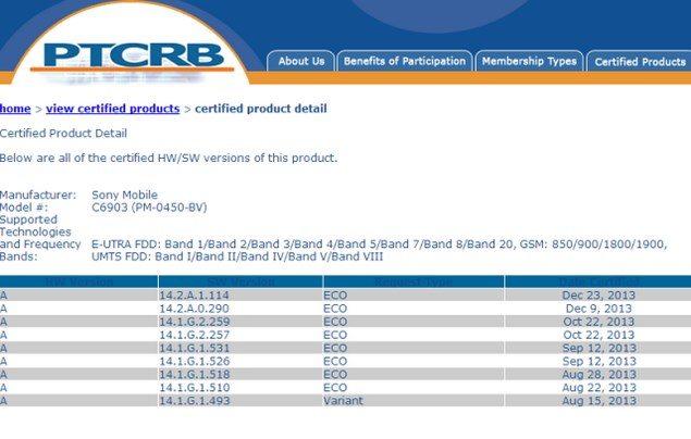 Сертифицирован Android 4.3 14.2.A.1.114 для Sony Xperia Z1 и Xperia Z Ultra