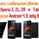 Развернулось обновление Android 4.3 (10.4.B.0.569) для Sony Xperia Z, ZL, ZR и Xperia Tablet Z