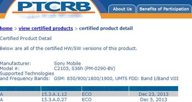 Прошивка 15.3.A.1.12 для Sony Xperia L прошла сертификацию