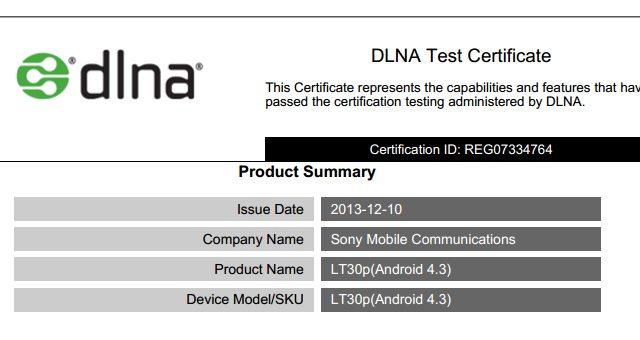 Сертификация Sony Xperia SP, TX, T и V с Android 4.3