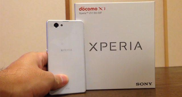 Распаковка Sony Xperia Z1 f Mini (SO-02F) NTT DoCoMo на видео