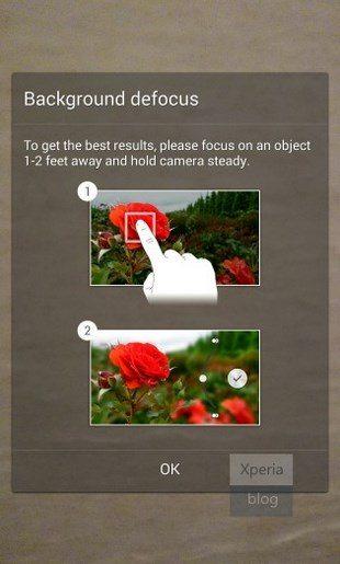 Размытие фона для Sony Xperia Z1, Z Ultra, Z, ZL, ZR