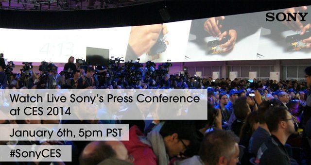 Онлайн трансляция конференции Sony Mobile на CES 2014
