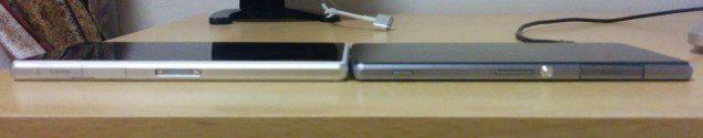 Размеры Sony D6503 Sirius и Xperia Z1