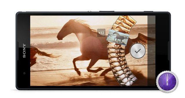Приложение Timeshift burst - серийная съемка на Сони Иксперия Z1, Z Ultra, Z, ZL, ZR, Tablet Z