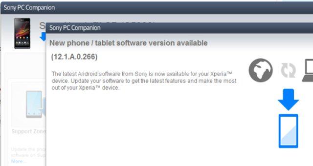 Начало обновления Sony Xperia SP до Android 4.3 12.1.A.0.266