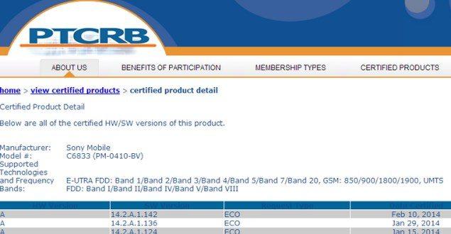 Сертифицирована прошивка 14.2.A.1.142 для Sony Xperia Z1, Z Ultra, Z1 Compact